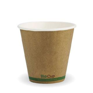 BIOPAK Double Wall CUP - 8oz (90mm) - Kraft with Green Stripe - 1000 - ( BCK-8DW-GS(90) ) - CTN