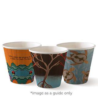 BIOPAK Double Wall CUP - 8oz (90mm) - Art Series - 1000 - ( BC-8DW(90)ART ) - CTN