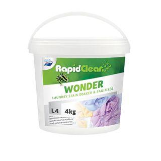 "Rapid Clean "" WONDER "" LAUNDRY STAIN / SANITISER - 4KG BUCKET"