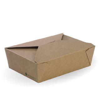 BIOPAK Large Lunch box - 197x140x64mm - FSC Mix - kraft - 200 - CTN ( BB-LBL-3 )