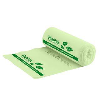 BIOPAK 30L Bin Liner - 570x510mm - 0.018mm - 40x25 - green - 1000 - CTN ( PSB-C-0013 )