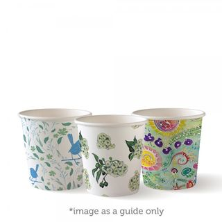 BIOPAK Single Wall CUP - 4oz - Art Series - 50 - ( BC-4-ART ) - SLV