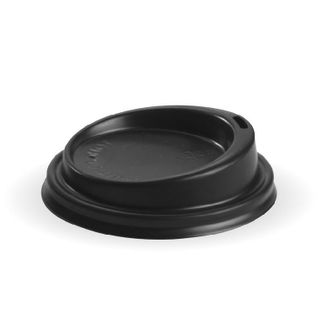 BIOPAK - LID PS (Plastic) - 6oz - 12oz (80mm) - black - 50 - ( BCL-8B ) - SLV