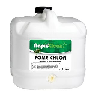 "Rapid Clean "" FOME CHLOR "" Cleaning and Sanitising Foam  -15L"