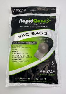 RAPID CLEAN- RAF924S - GHIBLI T1 SYNTHETIC VACUUM BAGS - 5 - PKT