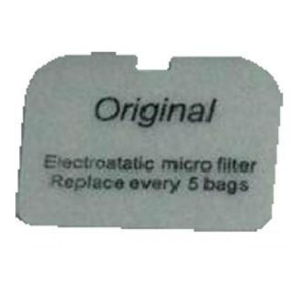 NILFISK GD5 BACK PACK VACUUM SMALL RECTANGULAR EXHAUST FILTER 3 - PKT