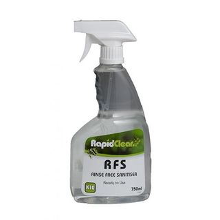 "Rapid Clean "" RFS "" Rinse Free Sanitiser - 750ML Spray Bottle"