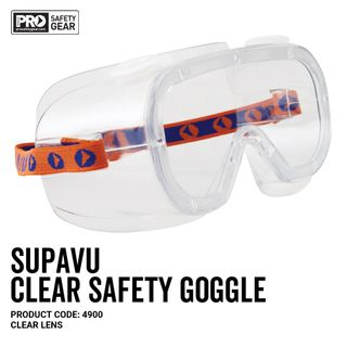 PRO CHOICE SUPAVU SAFETY GOGGLES- CLEAR - PAIR - EACH