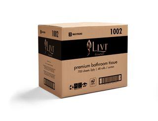 LIVI 1002 ESSENTIALS TOILET PAPER 2 PLY 700 SHEET - 48 CTN