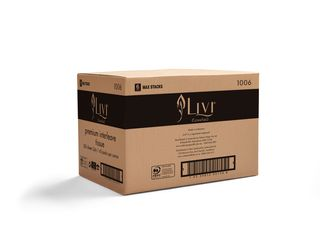 LIVI 1006 ESSENTIALS 2PLY 250'S INTERLEAVED TOILET PAPER - 36 - PACKS-CTN