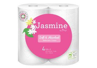 LIVI 1008 JASMINE TOILET PAPER 2PLY 250 SHEET ( 12 PACKS X 4 ROLLS ) - 48 ROLLS - BALE