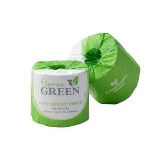 CAPRICE GREEN - 2PLY 400 SHEET SUSTAINABLE TOILET ROLLS  - 48 - CTN