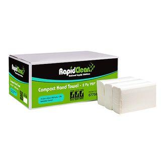 RAPID CLEAN COMPACT INTERLEAF HAND TOWEL-77580- 100 -SLV