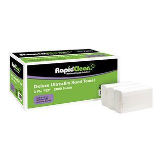 RAPID CLEAN ULTRASLIM DELUXE INTERLEAF HAND TOWEL-77095-100 - SLV