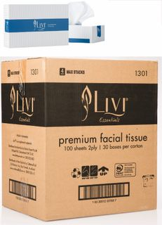 LIVI 1301 FACIAL TISSUES 2 PLY 100S - 30 - CTN