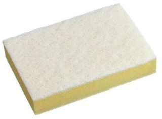 OATES DURA CLEAN YELLOW & WHITE SPONGE SCOURER- (SC-210 / 165855) -EACH