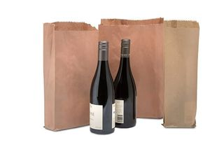 1 BOTTLE ( SINGLE ) BROWN PAPER BAG - 500 -PKT