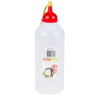DECOR 1LT SAUCE BOTTLE (RED CAP) - EACH