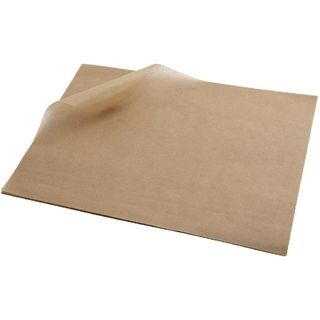 GREASE PROOF PAPER 1/8 SQ CUT UNBLEACHED - 200X165MM - 3200 SHEETS - REAM