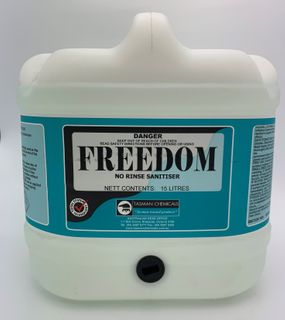 TASMAN FREEDOM Concentrated No Rinse Sanitiser -15L