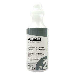 PRINTED AGAR SPRAY & WIPE BOTTLE 500ML (D02) - EACH