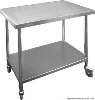STAINLESS STEEL MOBILE WORK BENCH 900X700X900 (WBM7-0900/A) - EACH