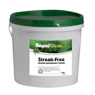 "Rapid Clean ""STREAK FREE"" Machine Dishwashing Powder - 4KG Tub"
