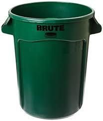 RUBBERMAID BRUTE BIN - DARK GREEN - 37.9L (10 Gal)
