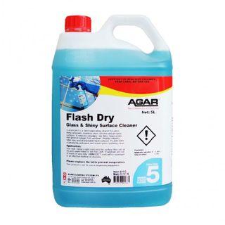 AGAR FLASH DRY PREMIUM GLASS & SURFACE CLEANER - 5L