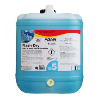 AGAR FLASH DRY PREMIUM GLASS & SURFACE CLEANER - 20L