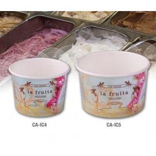 LA FRUITA PAPER ICE CREAM / GELATO CUP- 120ML / 4OZ - 50-SLV