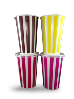 HUHTAMAKI CANDY STRIPE PAPER COLD CUP - MILK SHAKE CUP 22oz - 500 - CTN