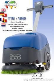 NUMATIC BATTERY FLOOR SCRUBBER / DRYER - TTB1840G