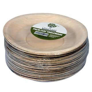 PALM LEAF ECO PLATE ROUND 240MM HIGH SIDE RIM ( ECOPL240R ) - 100