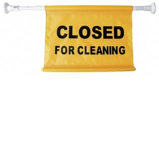 """OATES DOOR CAUTION SIGN - ADJUSTABLE - """" CLOSED FOR CLEANING """" - ( JA-005 / 165498 ) - EACH"""