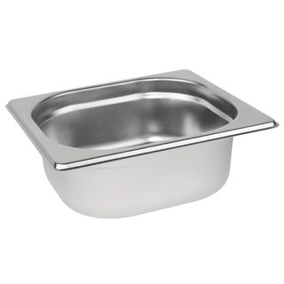 VOGUE 1/6 SIZE 65MM DEEP S/STEEL GASTRONORM PAN - DN727 - EACH