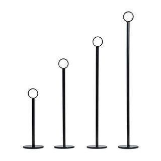 TABLE NUMBER STAND BLACK RING CLIP 300MM ( 70272-BK ) - EA