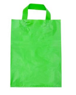 PAPER BAG SML CNVL Loop L/Lime (350x250+80g) - 500-CTN