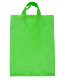 PAPER BAG LGE CNVL Loop L/Lime (450x310+110g) - 500-CTN