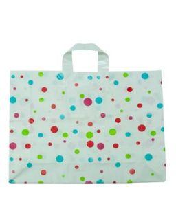 PLASTIC BAG LGE Polka Dot Bags (350x450+120g) - 250-CTN