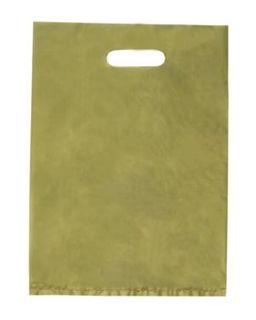 PLASTIC BAG Gold SML Diecut Handle (380x255) - 1000-CTN