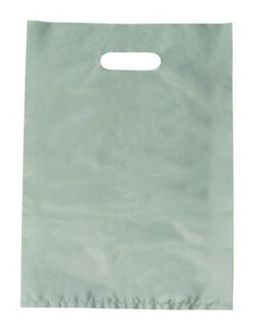 PAPER BAG Silver SML Diecut (380x255) - 1000-CTN