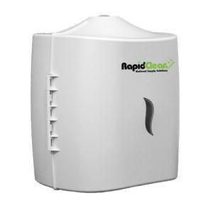 RAPID CLEAN WET WIPES PURE ACTION DISPENSER ( CENTRE PULL ) - WHITE - EACH