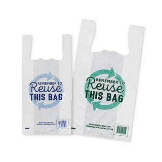 TP REUSABLE COMPLIANT SINGLET PLASTIC BAGS - MEDIUM - 500L X 250W + 120G -1000- CTN