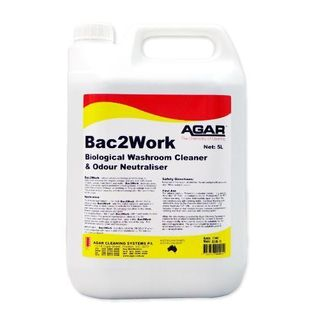 AGAR BAC2WORK BIOLOGICAL WASHROOM CLEANER & ODOUR NEUTRALISER - 5L