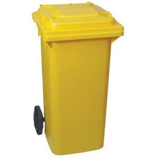 WHEELIE BIN 120L - YELLOW - EACH