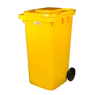 WHEELIE BIN - 240L - YELLOW -EACH