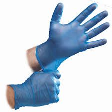 CAPRI VINYL BLUE PREMIUM POWDER FREE GLOVES - LARGE - 100 - PKT