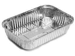 MARINUCCI 2.5L RECTANULAR TAKEAWAY FOIL TRAY MRE515 ( 7330 ) 310X212X48MM - 200 - CTN