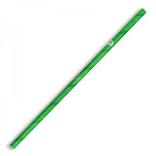 BIOPAK Green 6mm Regular Biostraws - 2500 - CTN ( JP-PBS-6X197-G )
